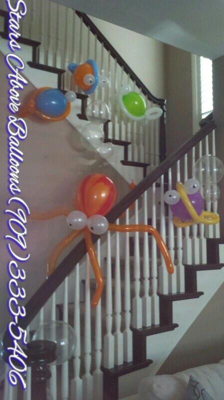 Under the sea themed birthday. Fish & bubbles