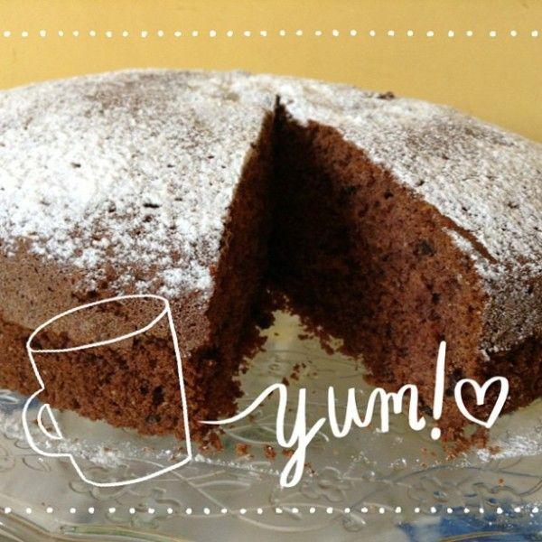 Torta soffice al cacao senza glutine e senza latte