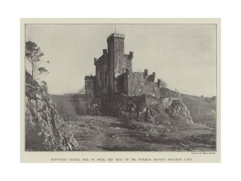 Dunvegan Castle, Isle of Skye, the Seat of Mr Norman Magnus Macleod, Cmg Giclee Print
