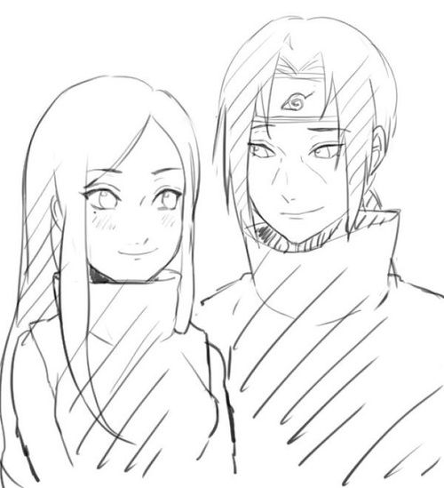 Uchiha Izumi and Itachi (they'd definitely make a good couple if they lived *feels*)
