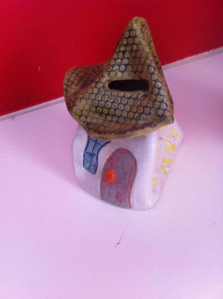 quirky ceramic house money box