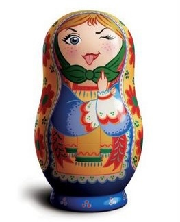 Russian nesting doll with a bad attitude. ;)