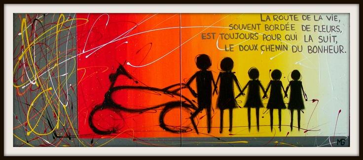 LA ROUTE DU BONHEUR  [24x60]