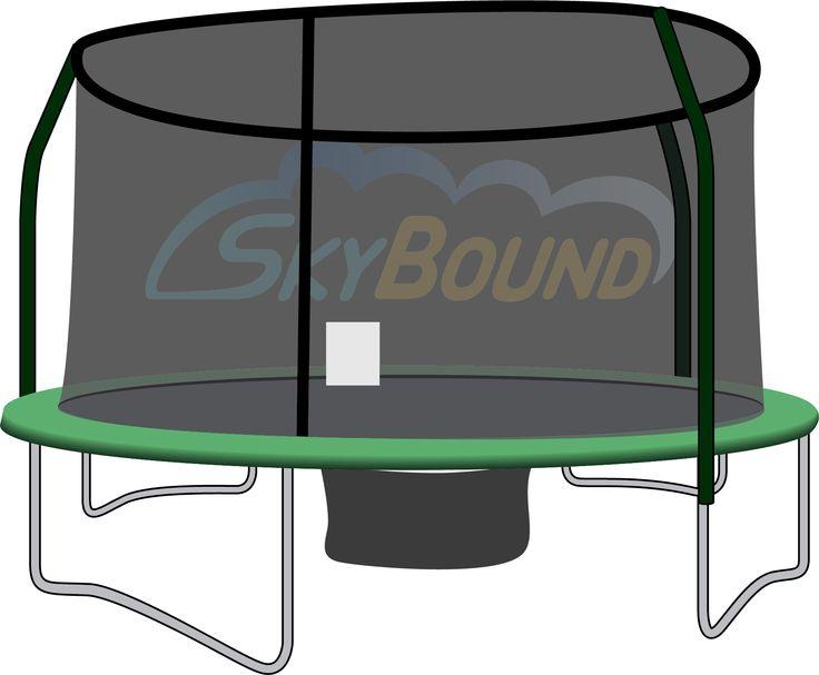enclosure trampoline netting using 4 poles - Trampoline Springs