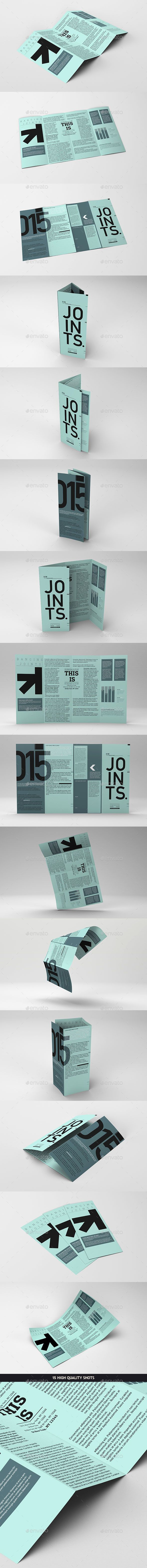 Gate Fold Roll Brochure Mockup — Photoshop PSD #corporate #cover • Available...