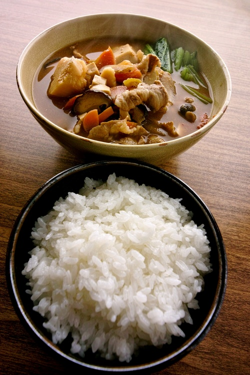 soup + rice