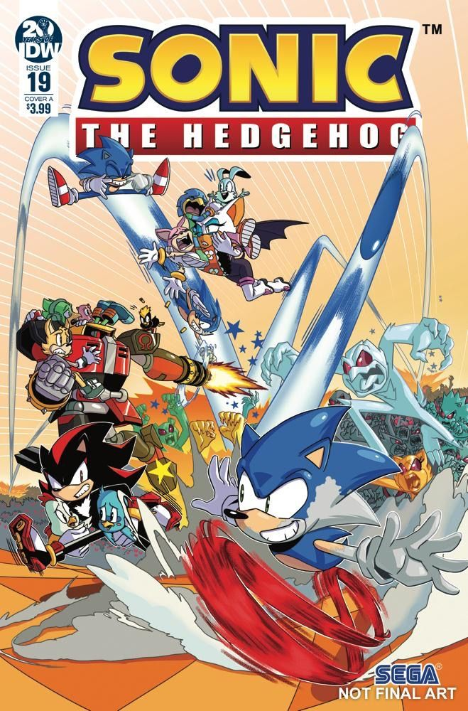 Cover A Of Idwsonic Issue 19 By New Artist Ryan Jampole Sonic The Hedgehog Sonic Comics