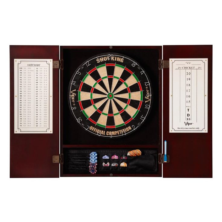 Metropolitan Dart Board Solid Wood Cabinet for Bristle Dart Boards - 40-040