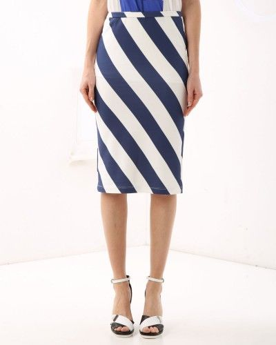 The striped pencil skirt by Iceberg simply irresistible