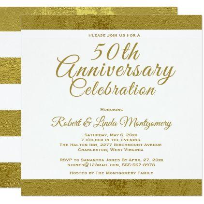 50th anniversary celebration gold invitation wedding invitations diy cyo special idea personalize card - 50th Wedding Invitations