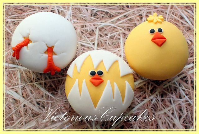 Easter Hatching Chicks 1 by Victorious Cupcakes, via Flickr