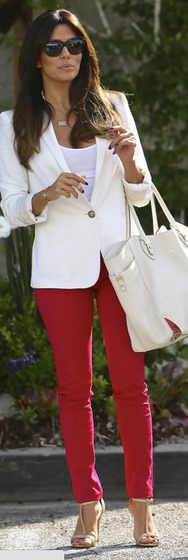 eva longoria. A great summer Outfit for a X-Figure
