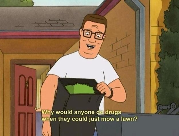 """Mowing the yard can be enjoyable. 