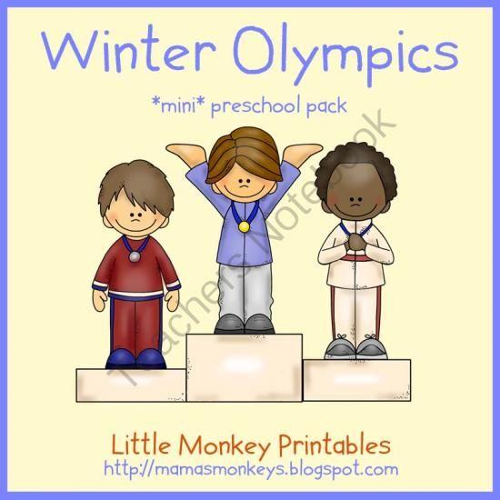 FREE Winter Olympics *MINI* preschool pack - 17 pages