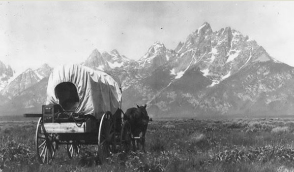 Homesteaders in Jackson Hole, Wyoming