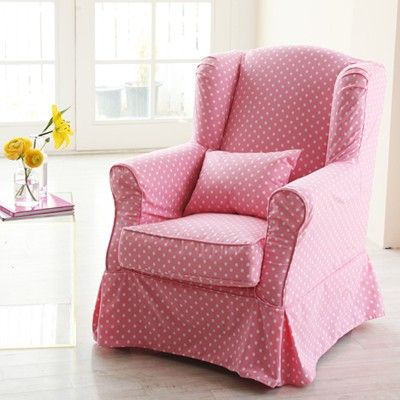 pink polka dot chair - Now this is one chair I would LOVE to have more than anything.....it is perfect, simply perfect and I want one SOOOOOO badly!!