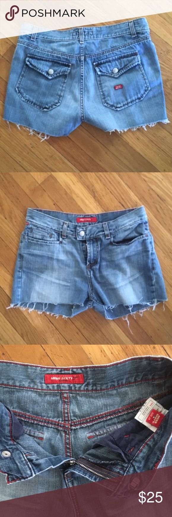 Miss Sixty Jean Cutoffs Adorable Miss Sixty Jean cutoff shorts, in great condition Miss Sixty Shorts Jean Shorts