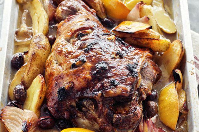 Greek-style slow roasted lamb