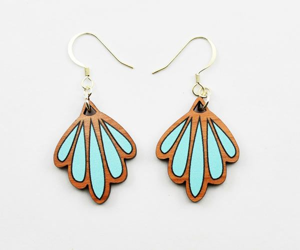 sweet wooden drop #earrings by Love Ikandi, a Queensland based business. All jewellery is designed and made in Australia.