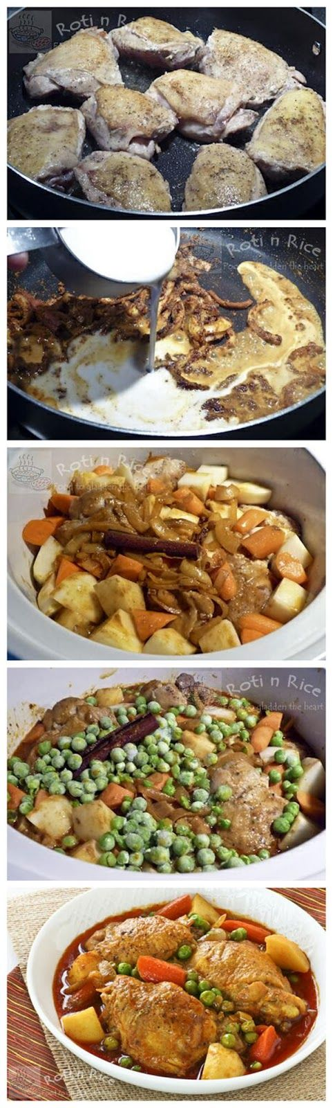 Slow Cooker Chicken and Vegetable Curry - RedStarRecipe