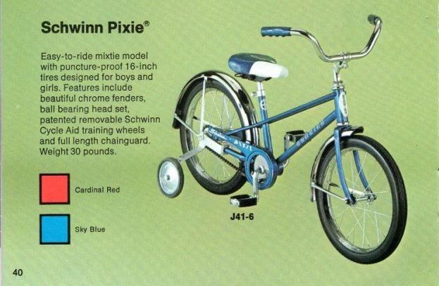 "Schwinn ""Pixie"" bicycle"