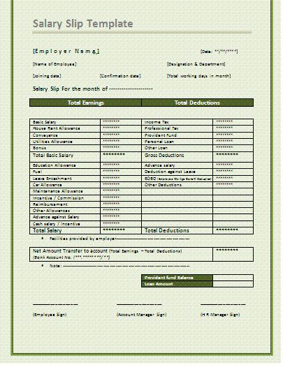 A salary slip template is an essential business record that gives exhaustive insights about the pay of a worker to be paid at the end of the month by the