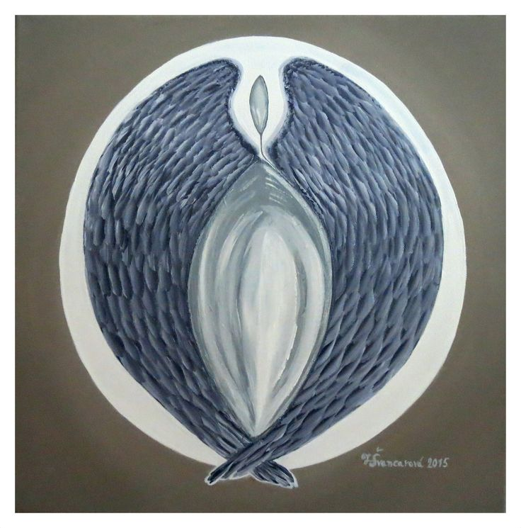 Delfíní tanec - akryl na plátně 50x50