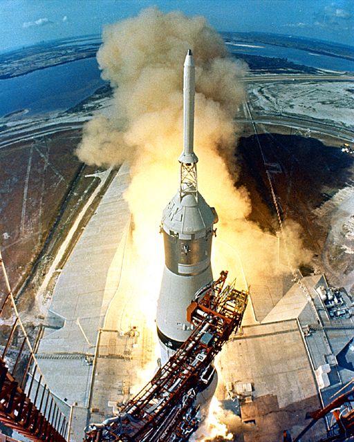 Apollo Anniversary - Apollo 11 Saturn V launch from the Kennedy Space Centre.