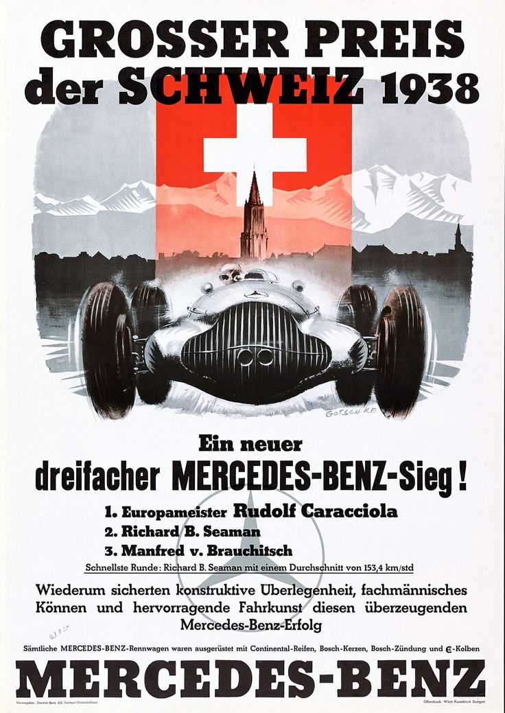 350 best f1 posters images on pinterest posters vintage for Vintage mercedes benz posters