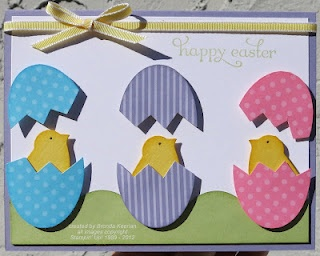 Stampin' Up! Chick from bird punch egg from xlg oval punch