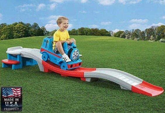 Thomas The Train Coaster Step 2 Up & Down Kids Ride On Train Engine Track Toy #ThomasTheTrainCoaster