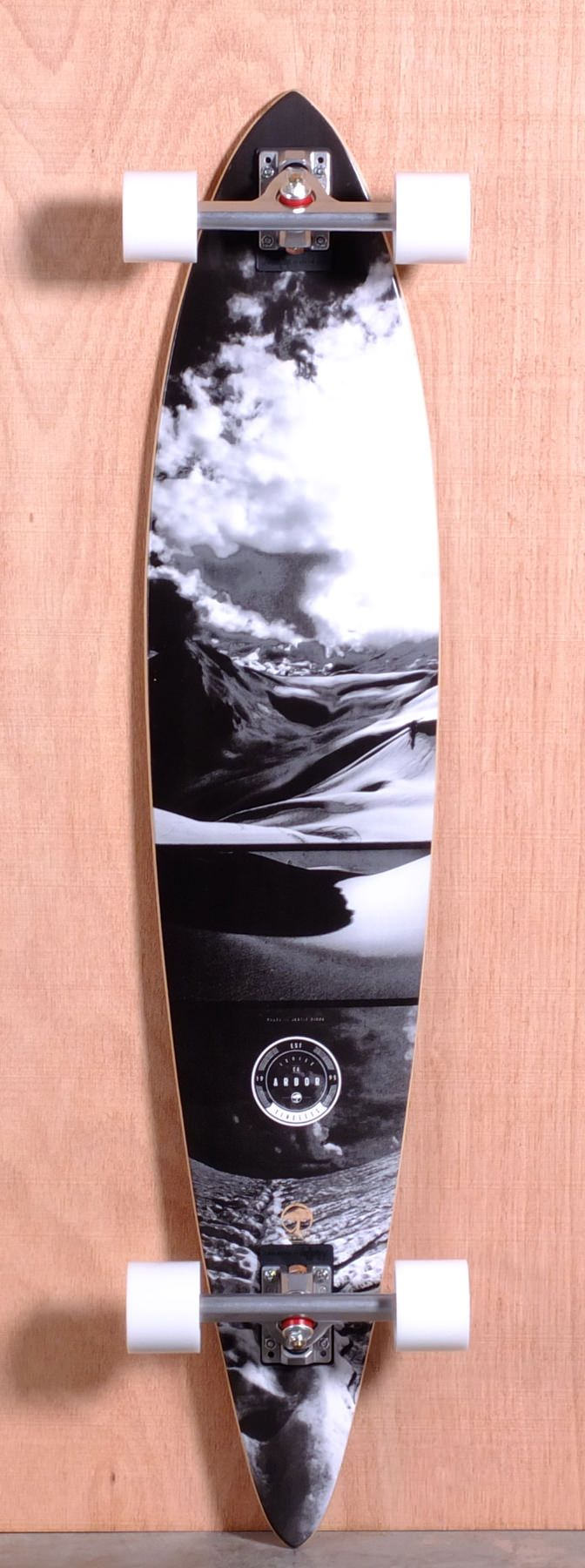 """Arbor Prebuilt 46"""" Timeless Groundswell Pintail Longboard Complete"""