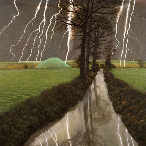 Storm over Silbury Hill - David Inshaw