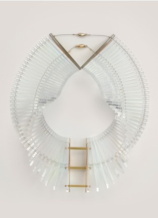 Sarah Angold - Kingla acrylic necklace | White Necklace Fashion Jewellery | Womenswear | Lane Crawford