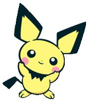 #Pichu 2 from the official artwork set for #Pokemon Channel on #Gamecube. http://www.pokemondungeon.com/pokemon-channel