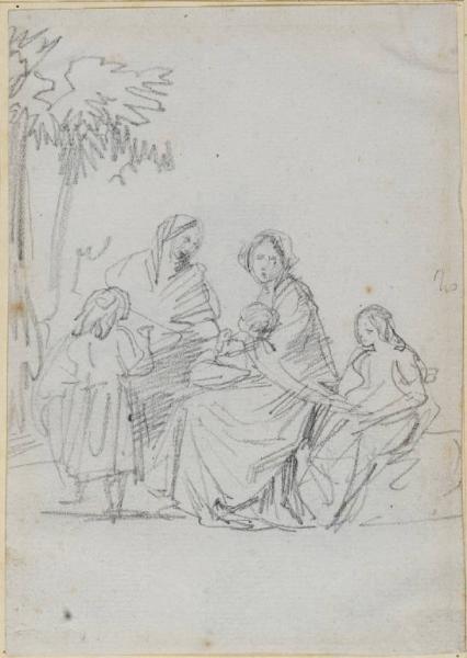 Gruppo di donne e bambini Carnovali Giovanni detto Piccio