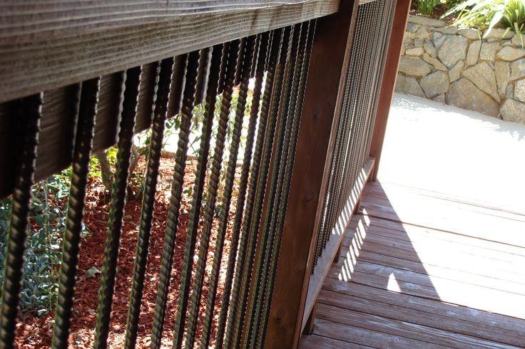 Rebar Deck Railing Frugal Home DIY Outside Pinterest