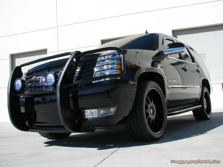 grille guard for 2004 Cadillac Escalade   ... 2010 black cadillac escalade custom features blacked out escalade