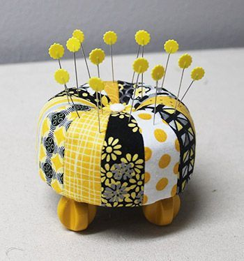 Color Wheel Pincushion » Notions - The Connecting Threads Quilt Blog