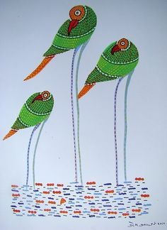 gond krishna painting - Google Search