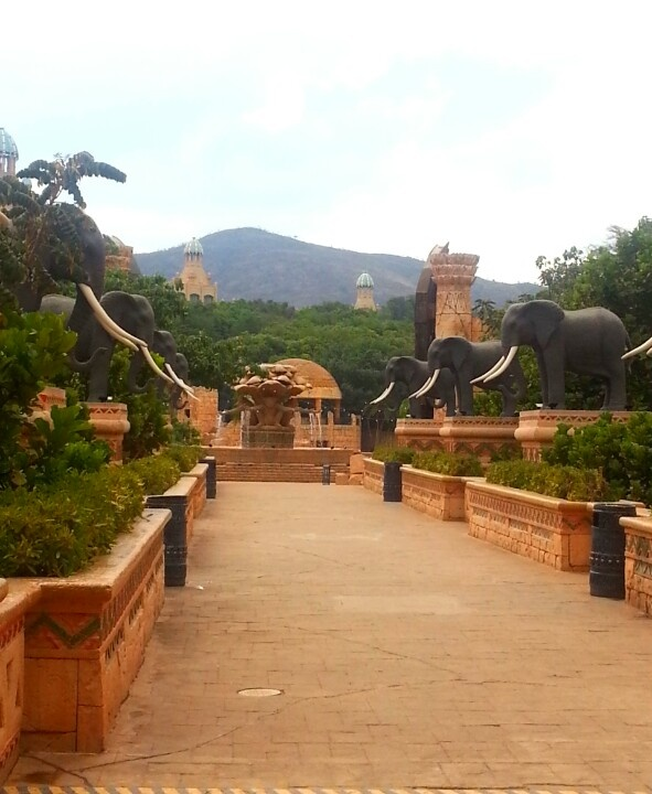 Elephant Bridge to Valley of the Waves at Sun City South Africa