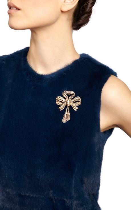 Antique Diamond Bow Brooch by Simon Teakle for Preorder on Moda Operandi