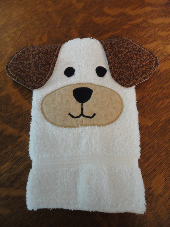 Cute Dog Bath Mitt by QuiltedbyMarilee on Etsy, $7.00