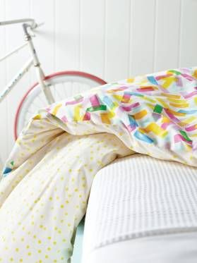QUILT COVERS SPRINKLES PINK SINGLE KIDS BEDDING