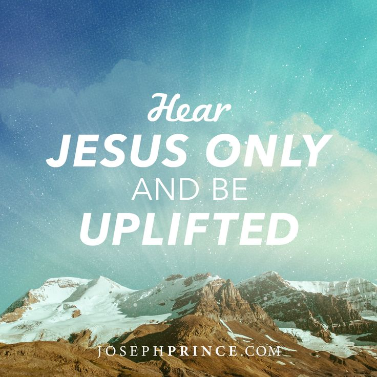 Arise from despair into hope and faith when you give ear to Jesus alone. In Joseph's latest message, see how the only way to truly honor Jesus and live for His glory is to abide by His words of grace and love. http://www.josephprince.com/2014/05/hear-jesus-only-and-be-uplifted/