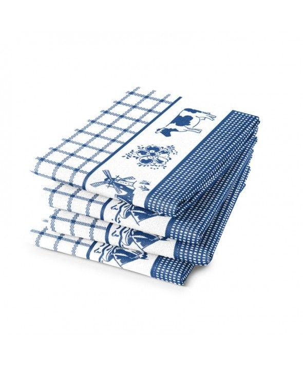 """""""Blauwe theedoek dutchie  Maak het uzelf gemakkelijk en kies voor goede kwaliteit theedoeken in de keuken.  Deze DDDDD theedoek droogt prima en kan gemakkelijk een grote vaat aan. Kwaliteit en een mooie doek gaan hier goed samen. Deze theedoek kunt u leuk combineren met de blauwe DDDDD keukendoek. Naast deze dutchie blauwe theedoek zijn er nog veel meer prachtige theedoeken en keukendoeken te vinden bij BeterGoed.""""…"""
