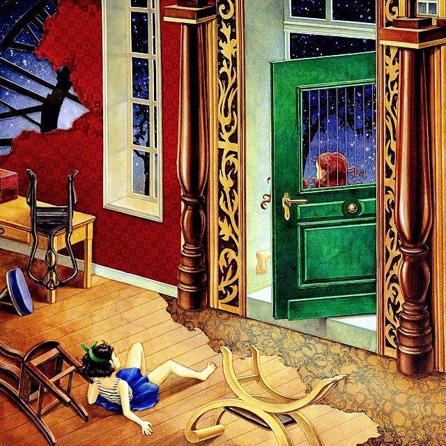 "Instagram media daria486 - #컬러링북 #시간의정원 #원작 ""아빠의 수상한 #뻐꾸기시계"" ⏰⏰⏰#송지혜작가  #watercolor #gouache #illustration on paper #nightsky #star #door #fairytale #fantasy #coloringbook #TheTimeGarden #수채화 #과슈 #일러스트 #판타지 #동화 #요정 #밤하늘 #별 #손그림 #안티스트레스 #힐링 #아트테라피 #색칠공부 #時間的旅程"