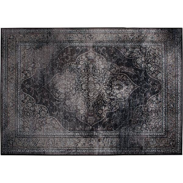 Dutchbone Rugged Vloerkleed 170 x 240 cm - Dark #vtwonencadeau.