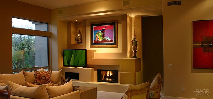 20 best images about media wall on pinterest fireplaces for Media wall design phoenix