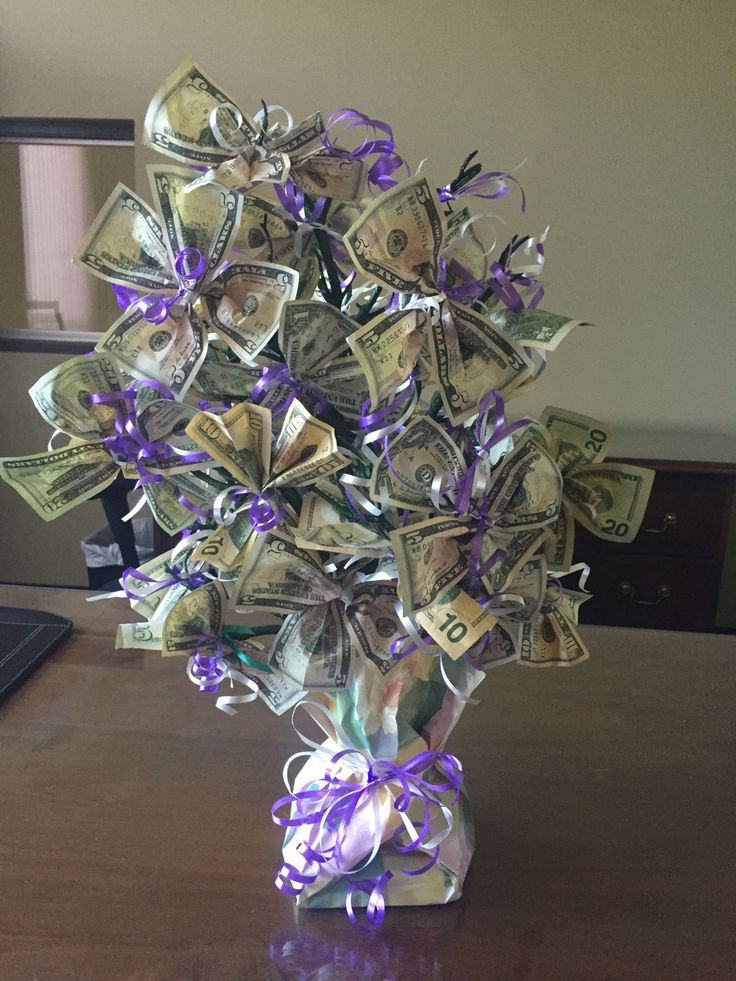 Money Tree - Retirement 2016. I made this for my       co-worker.